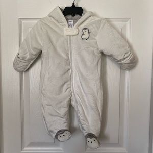 Hooded Baby Winter Suit Sz 3 months
